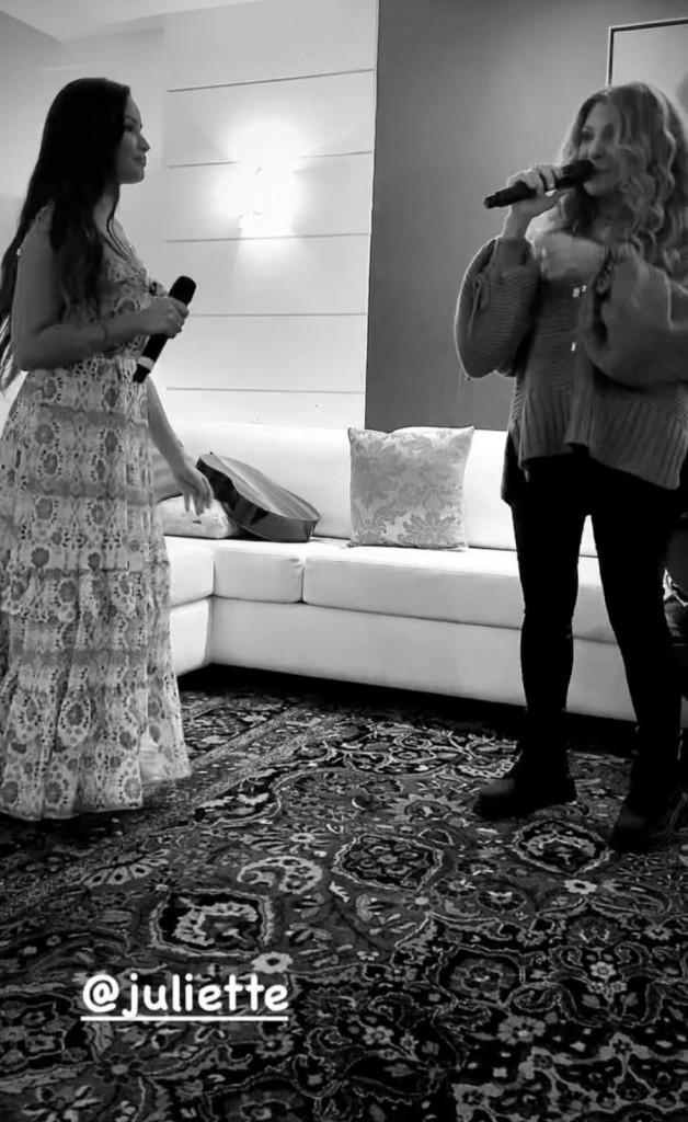 elba ramalho se derrete por juliette em ensaio de live - Elba Ramalho se derrete por Juliette em ensaio de live: 'Cantando lindo, gentil e amorosa'