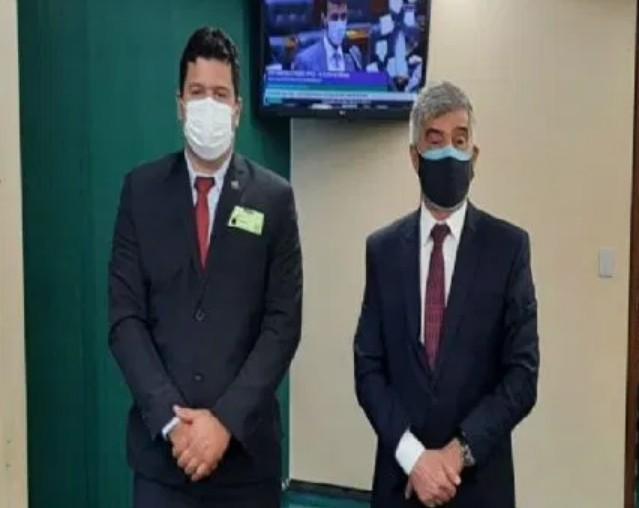 foo - Em Brasília, prefeito de Prata se reúne com deputado Wellington Roberto e consegue emendas para a saúde