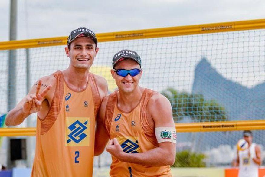 george e andre - Paraibano conquista bicampeonato no Circuito Brasileiro de Vôlei de Praia