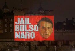 'Jail Bolsonaro', diz projeção na Torre de Londres pedindo prisão de Bolsonaro