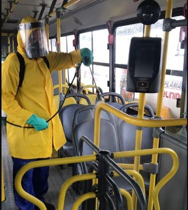 limp - Ônibus do transporte coletivo de João Pessoa são higienizados diariamente com limpeza reforçada