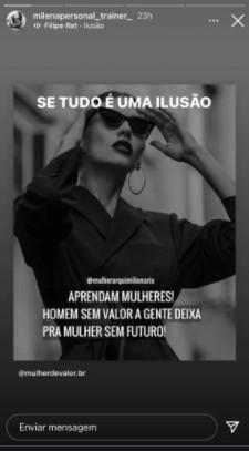 milena nogueira stories - Ex-esposa de Diogo Nogueira manda indireta sobre Paolla Oliveira após boatos de romance entre eles