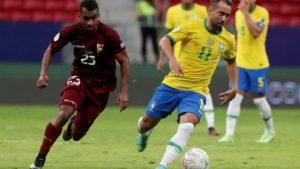 partida entre brasil e venezuela na abertura da copa america 300x169 - Jogadores venezuelanos que testaram positivo para a Covid-19 foram infectados por variantedo Brasil