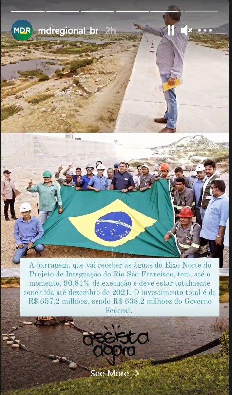 print operarios - Operários fazem gesto de apoio a Lula em foto com Bolsonaro durante agenda no RN
