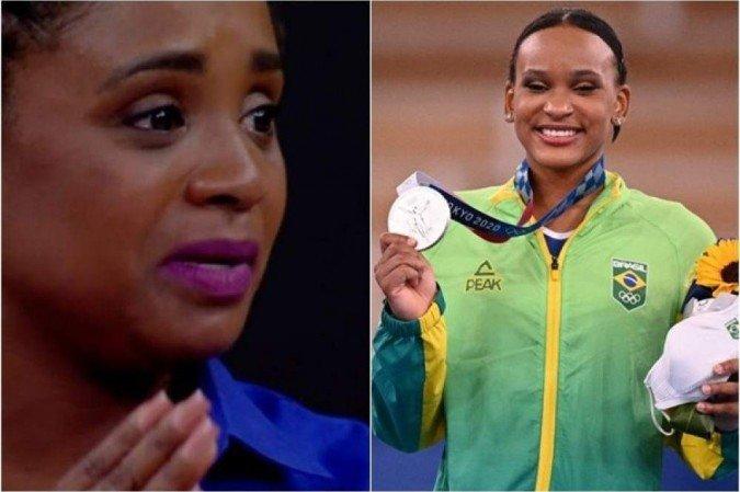 """1 daiane rebeca 6781362 - Lenda da ginástica brasileira, Daiane se emociona com Rebeca: """"Disseram que não podia ter ginasta negra"""" - VEJA VÍDEO"""