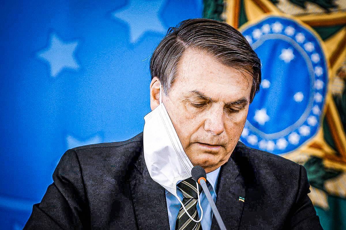 2020 07 03T111206Z 1 LYNXMPEG620NQ RTROPTP 4 SAUDE CORONAVIRUS MASCARAS VETO - IMAGEM NEGATIVA: com 60%, Bolsonaro é o presidenciável mais rejeitado para 2022, aponta pesquisa