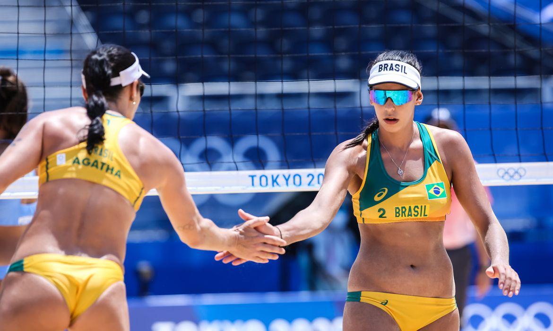 Agatha e Duda - Ágatha e Duda perdem para dupla chinesa no vôlei de praia e enfrentam canadenses no próximo jogo