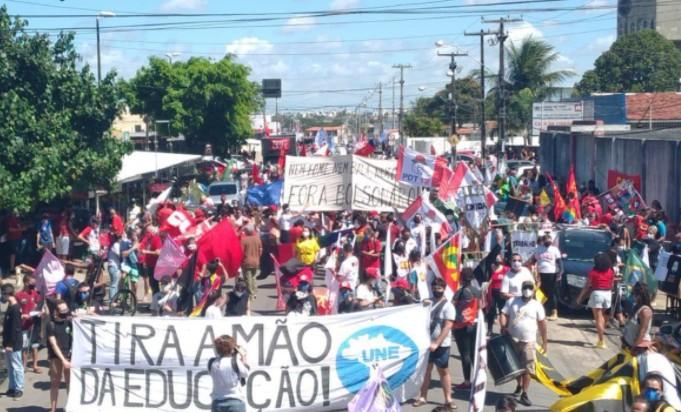 Captura de tela 2021 07 24 153515 - Manifestantes voltam às ruas em protestos contra o governo Bolsonaro, 5 cidades da PB registraram o ato - VEJA VÍDEOS