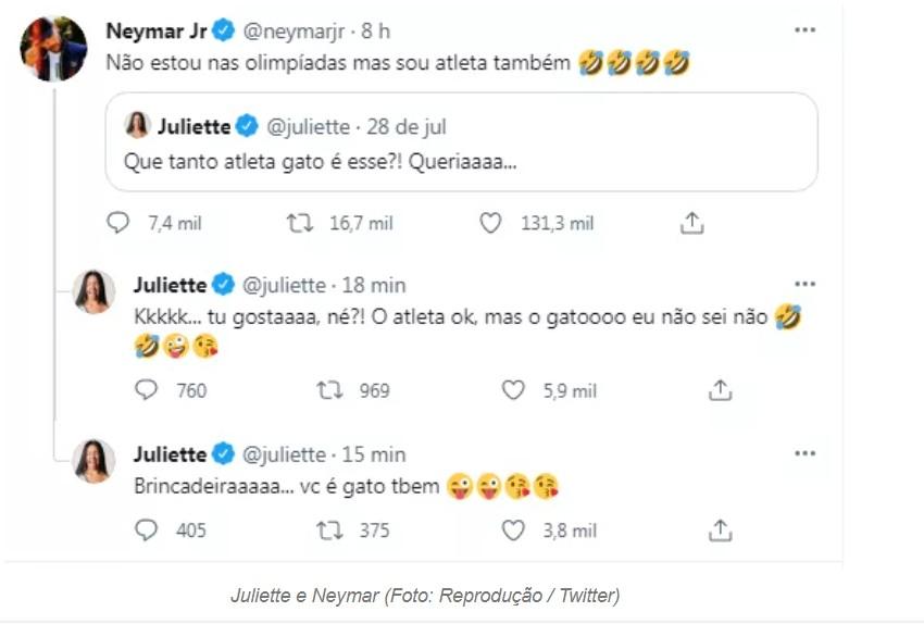 """Capturar 112 - Juliette 'dá fora' em Neymar após flerte: """"Atleta ok, mas gato não sei, não"""""""