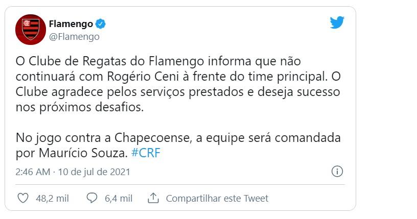 Capturar 21 - Flamengo anuncia demissão de Rogério Ceni