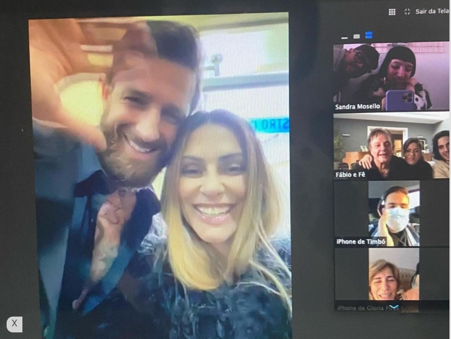 Capturar 28 - Toda de preto: Cleo se casa com empresário e faz festa virtual com Fábio Jr., Fiuk e Gloria Pires