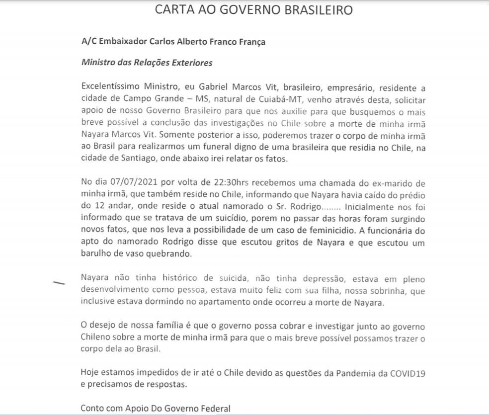 Capturar 39 - Gabriel Vit, irmão da modelo brasileira que morreu no Chile pede ajuda do governo brasileiro para que investigação da morte seja acelerada