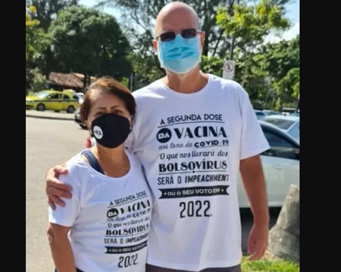 """Capturar 48 - """"BOLSOVÍRUS"""": Professor veste camisa contra Bolsonaro e é barrado em vacinação em quartel"""