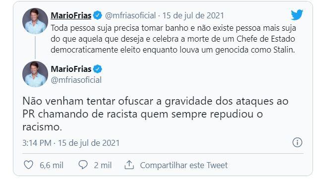 """Capturar.JPGdd  - Mario Frias é acusado de racismo após sugerir """"banho"""" a historiador negro"""