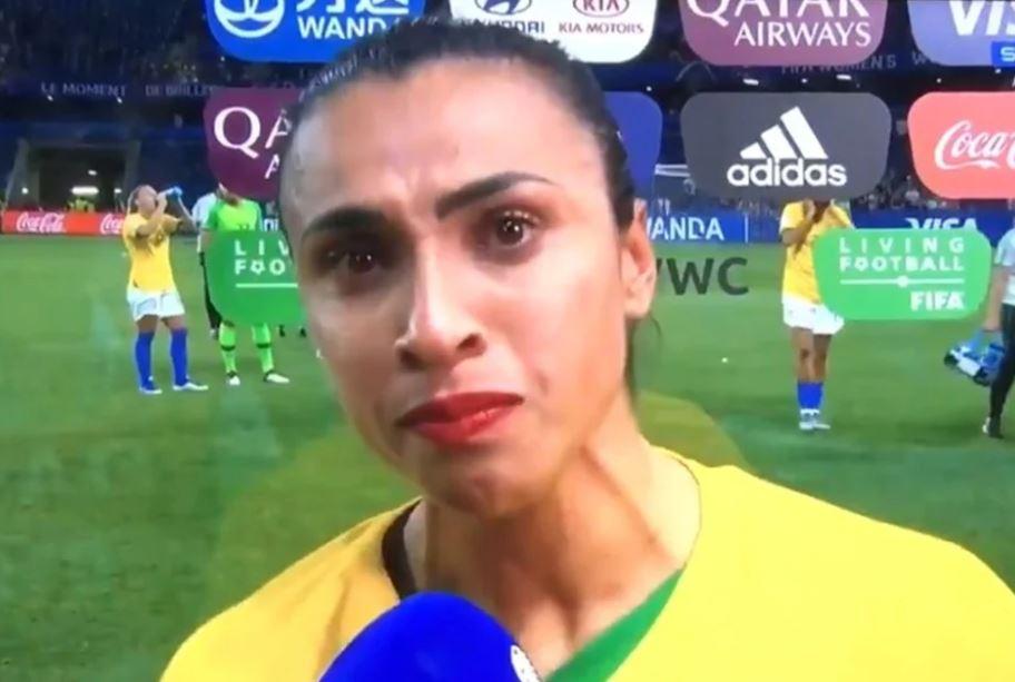 Capturar.JPGfff 2 - Após eliminação, Marta faz forte desabafo e pede mais apoio: 'O futebol feminino não acaba aqui' - VEJA VÍDEO