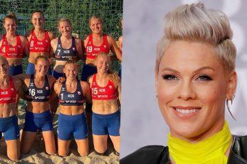 Cantora Pink oferece ajuda a jogadoras de handebol multadas por não usar biquíni