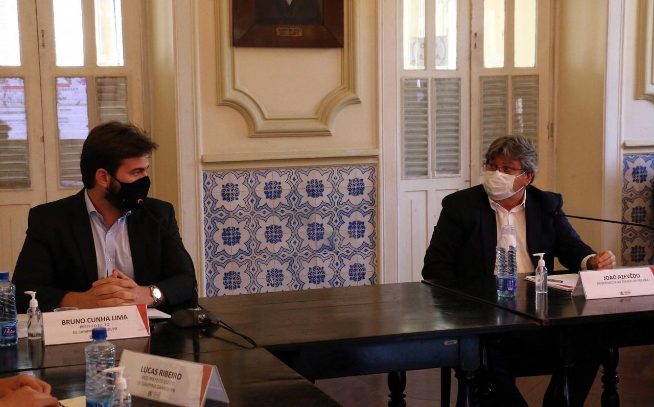 JOAO E BRUNO - Combate à Covid-19: Bruno Cunha Lima se reúne com João Azevêdo na quinta (08)