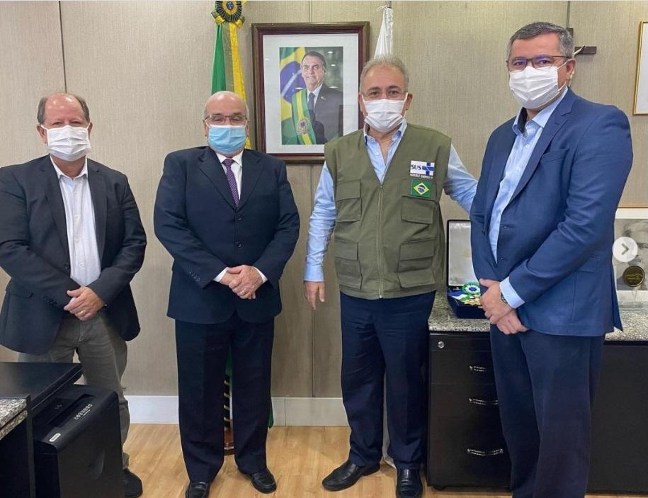 Unimed no Ministerio da Saude - Comitiva da Unimed participa de reunião com o ministro da Saúde
