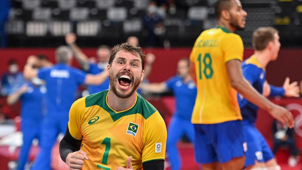 Volei masculino - Brasil vence Estados Unidos de virada no vôlei masculino