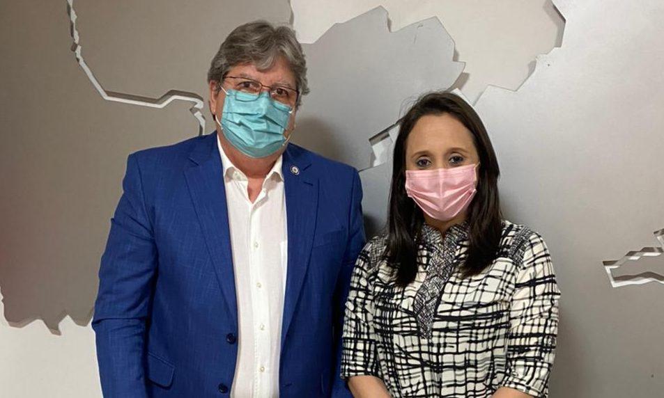 WhatsApp Image 2021 07 02 at 17.05.10 e1625256987411 - Presidente nacional do Podemos, Renata Abreu se reúne com João Azevêdo e reforça apoio de partido ao governador