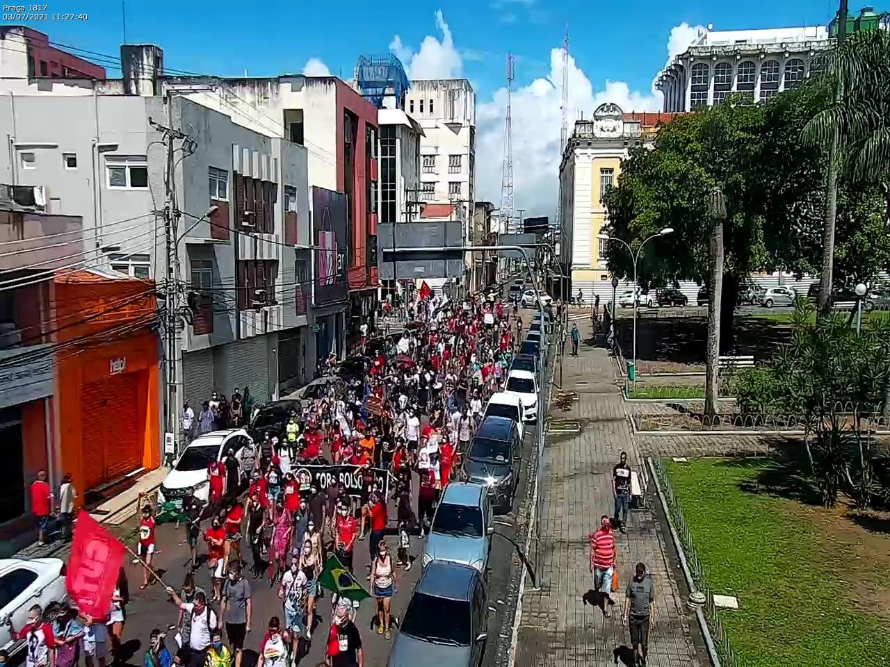 WhatsApp Image 2021 07 03 at 11.36.05 - Manifestantes protestam contra Bolsonaro e pedem impeachment do presidente em João Pessoa - VEJA IMAGENS