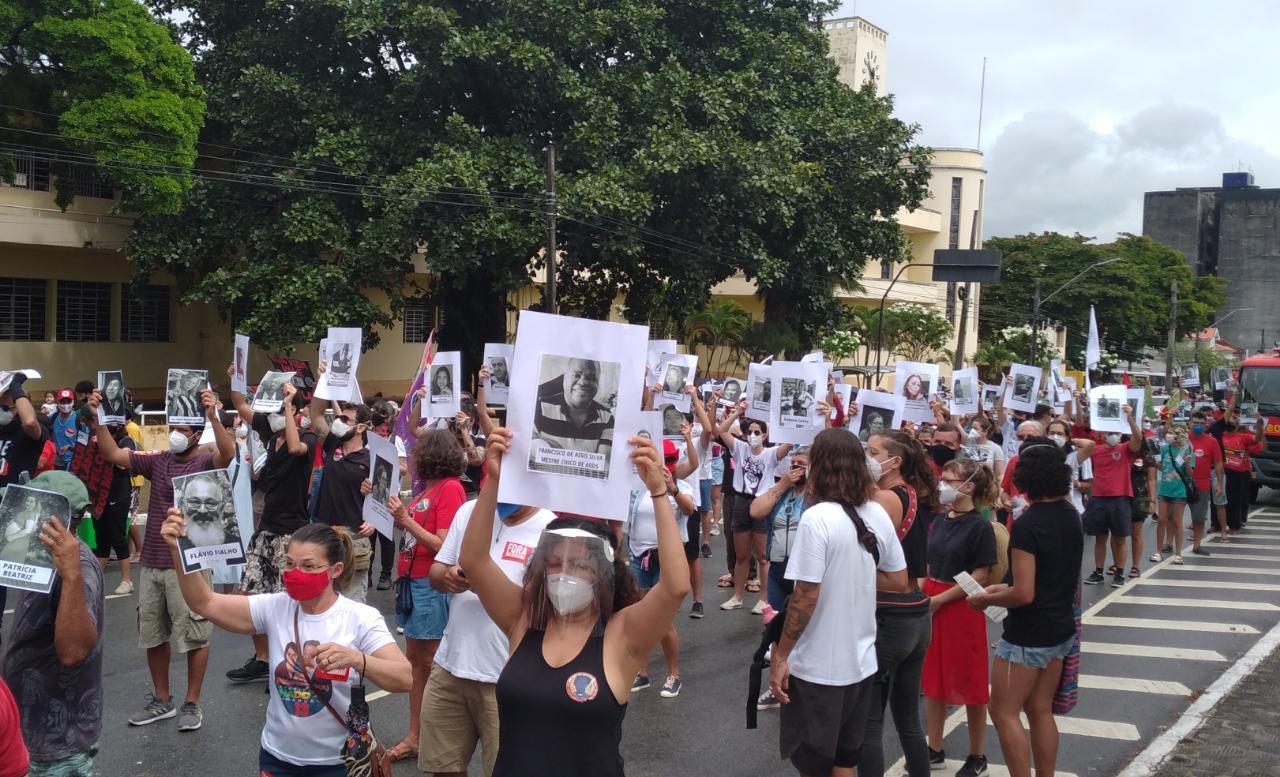 WhatsApp Image 2021 07 03 at 19.06.03 1 - HOMENAGEM E PROTESTO: Manifestações em JP contra Bolsonaro ganham destaque nacional por relembrar vítimas da Covid-19 - VÍDEO