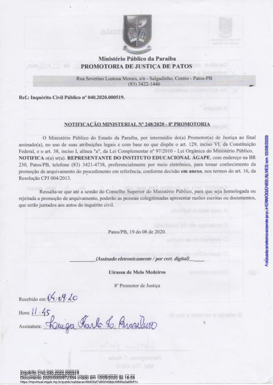 WhatsApp Image 2021 07 05 at 15.16.26 - Instituto Ágape, processa Paraíba Já por suposta Fake News, portal diz ter compromisso com a verdade, colecionando grandes investigações