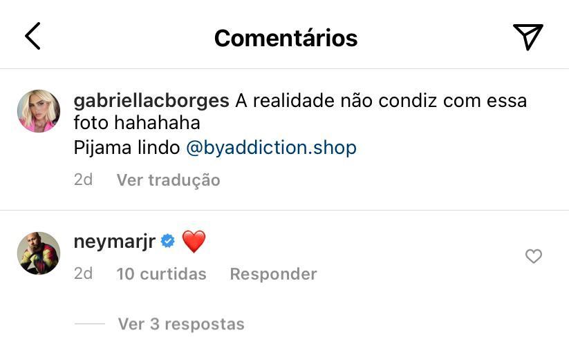 WhatsApp Image 2021 07 06 at 17.27.18 - O PAI TÁ ON! Neymar ataca novamente e comenta foto de modelo brasileira - SAIBA QUEM