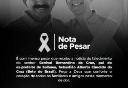 Tião Gomes emite nota de pesar pelo falecimento do pai do ex-prefeito de Solânea Beto do Brasil