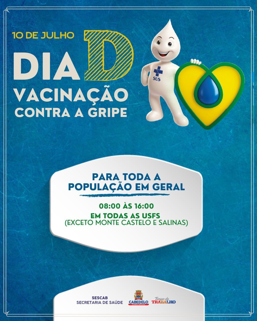 WhatsApp Image 2021 07 09 at 18.37.01 - Cabedelo realiza Dia D de vacinação contra a gripe para toda a população neste sábado