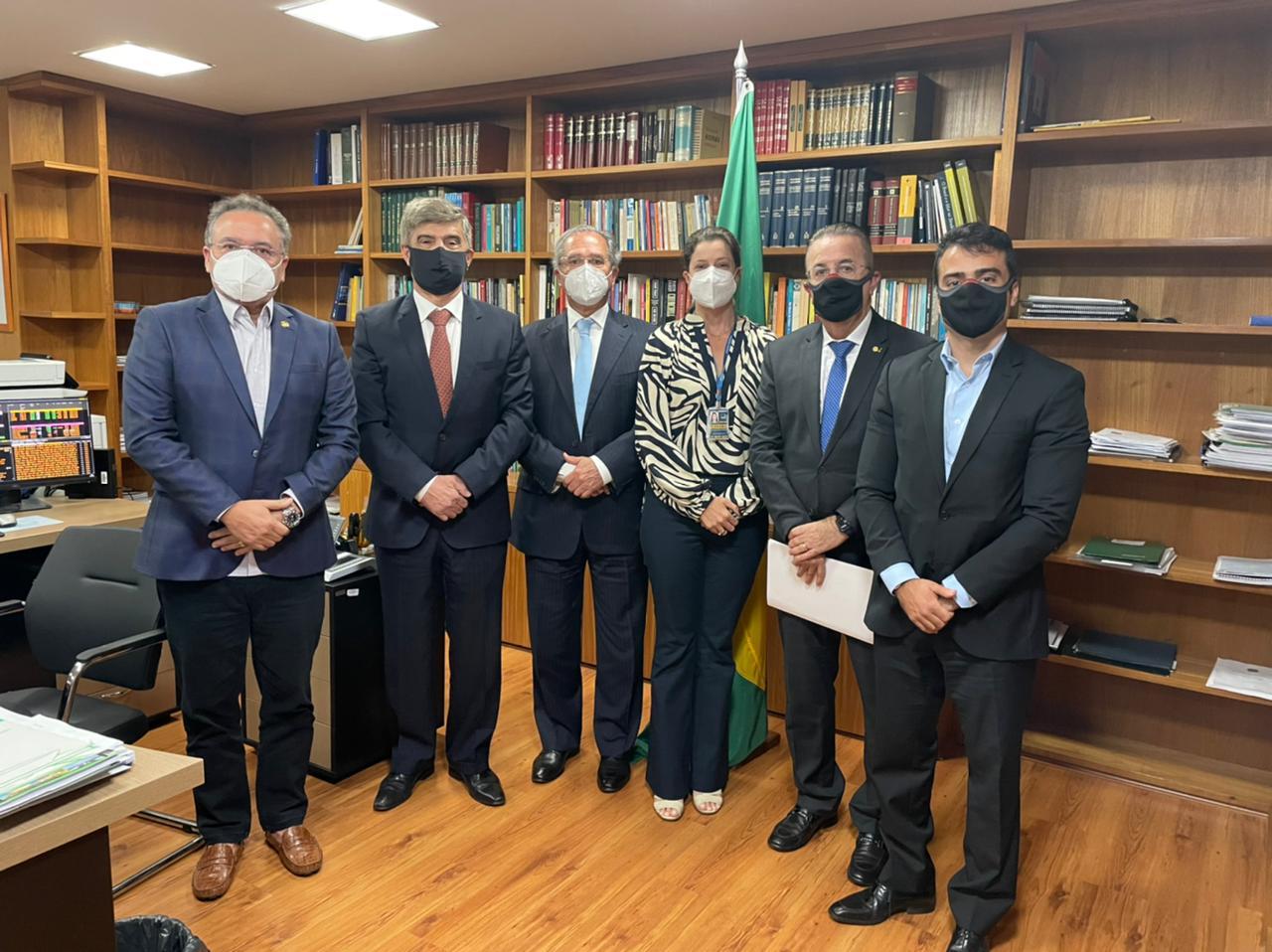 WhatsApp Image 2021 07 14 at 13.18.38 - Wellington Roberto e Bruno Roberto se reúnem com ministro Paulo Guedes para tratar da Reforma Tributária