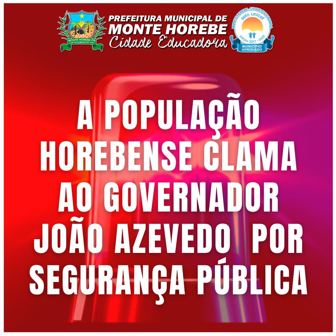 WhatsApp Image 2021 07 15 at 08.14.51 - 'DESCASO COM O POVO': Prefeito Marcos Eron pede ao Governo da Paraíba segurança pública para Monte Horebe - OUÇA