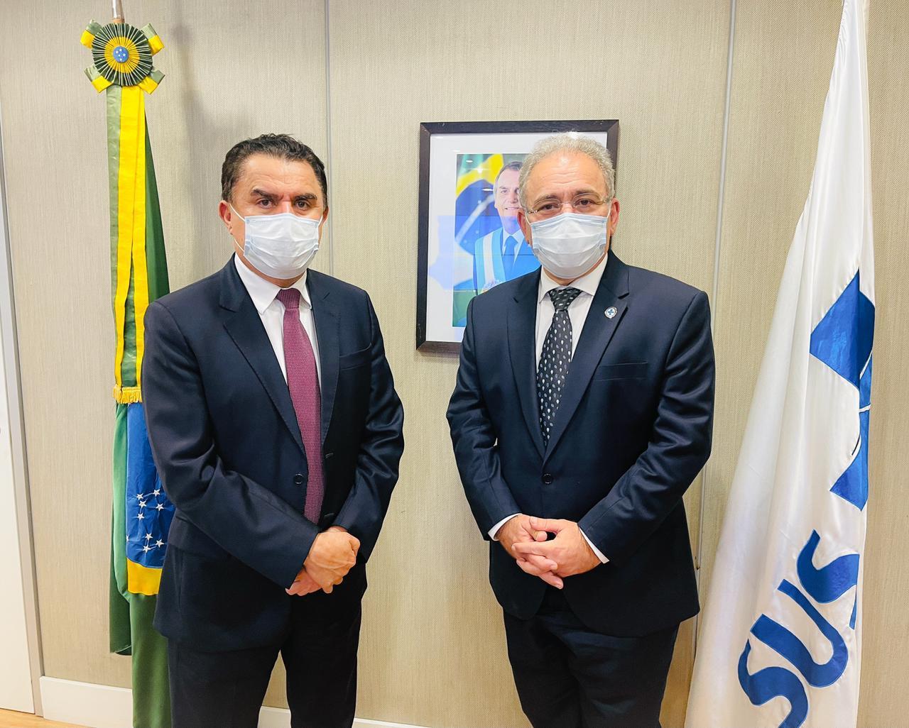 WhatsApp Image 2021 07 16 at 08.30.24 - Wilson Santiago é recebido pelo ministro da Saúde; Serviço de Oncologia no Alto Sertão entrou na pauta