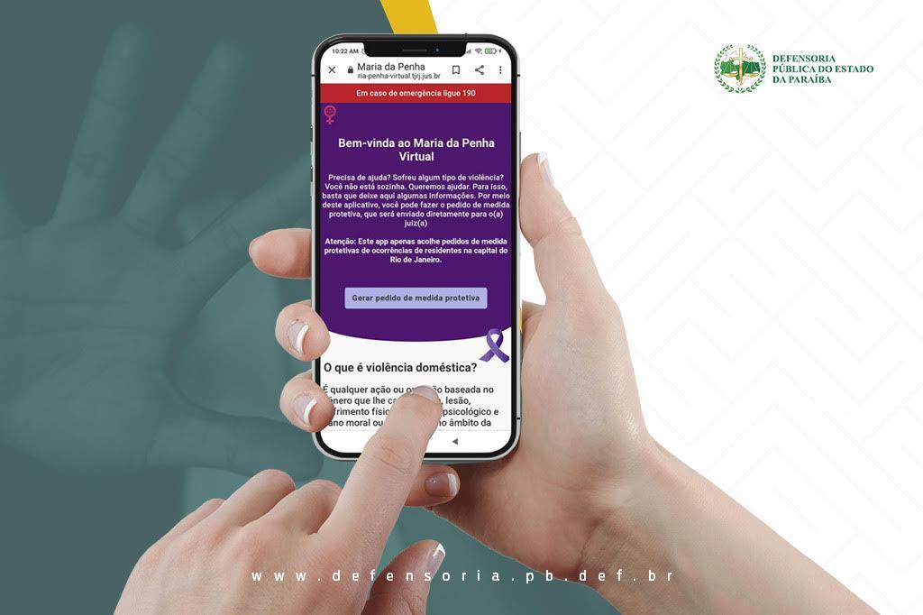 WhatsApp Image 2021 07 17 at 15.47.46 - Aplicativo web 'Maria da Penha Virtual' é incorporado pela DPE-PB