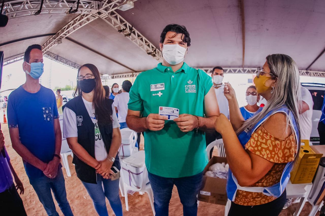 WhatsApp Image 2021 07 18 at 08.16.15 - Leo destaca parceria de Cícero e João para sucesso da vacinação contra a Covid em João Pessoa