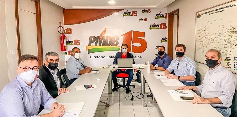 """WhatsApp Image 2021 07 26 at 15.31.00 - REUNIÃO NO MDB: Mikika Leitão defende Veneziano e Cássio juntos em chapa majoritária em 2022: """"A Paraíba toda vai tremer"""" - OUÇA"""