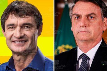 """Romero agradece declarações de Bolsonaro e diz que presidente administra bem o país: """"a recíproca é verdadeira"""""""