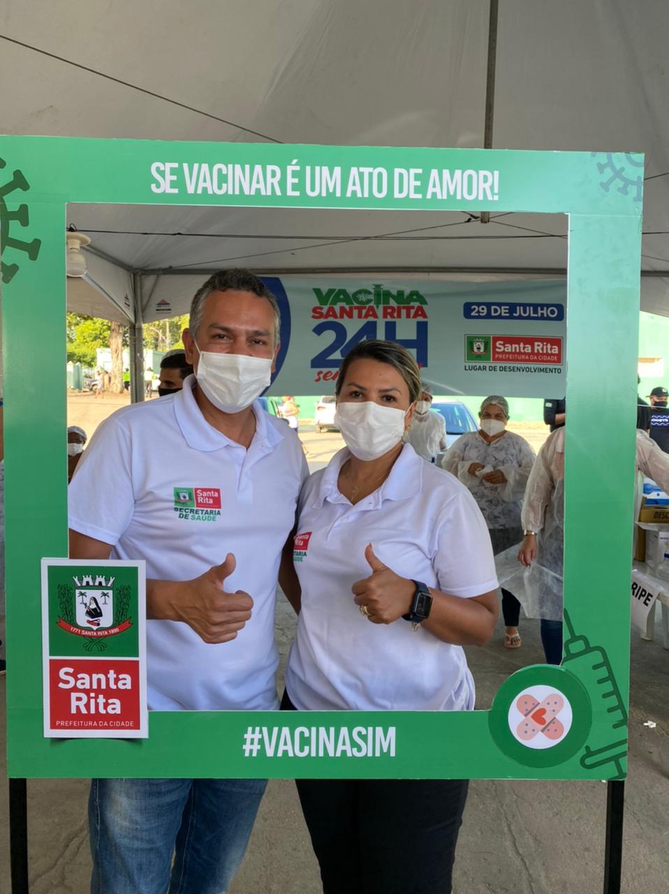 """WhatsApp Image 2021 07 31 at 12.27.39 - Jane Panta destaca ação de vacinação contra a Covid-19 em Santa Rita: """"fizemos história"""""""