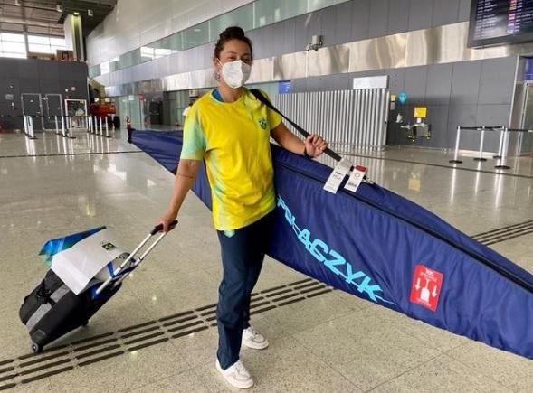 atleta canoagem - Ana Sátila é a primeira atleta brasileira a embarcar para Tóquio para a disputa dos Jogos Olímpicos