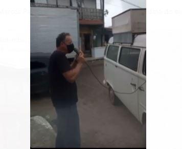 auditor - Auditor do TCE, Marcos Patrício é flagrado realizando manifestação contra Prefeitura de Cabedelo - VEJA VÍDEO