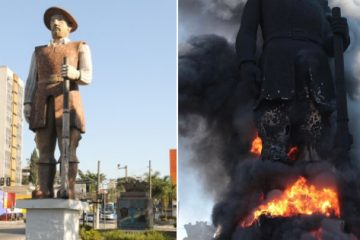borbagato33 360x240 - Manifestantes incendeiam estátua de Borba Gato em São Paulo; assista e entenda o motivo