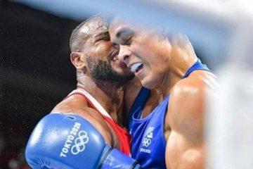 Boxeador tem momento de Mike Tyson e tenta morder bochecha de oponente