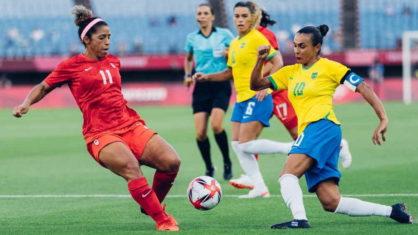 brasil futebol feminino canada 418x235 1 - Brasil perde nos pênaltis para o Canadá e é eliminado no futebol feminino