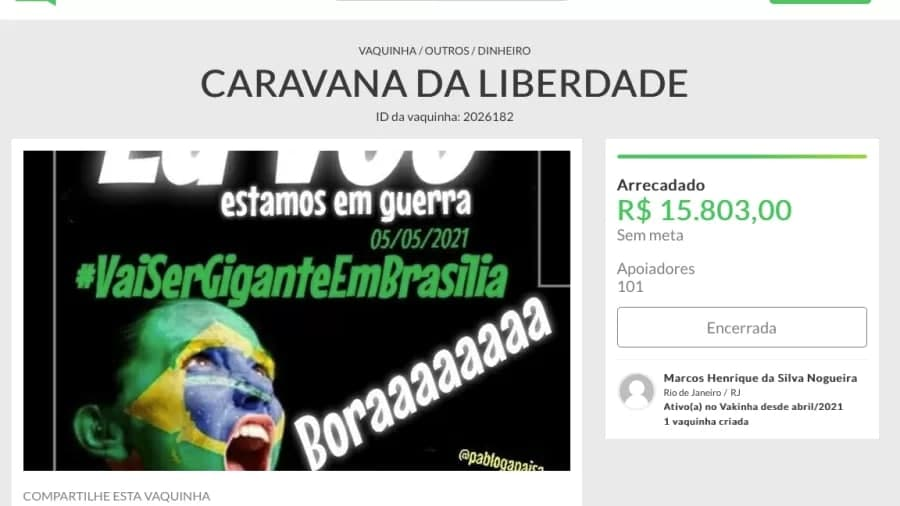 caravana bolsonaro - Caravana pró-Bolsonaro que nunca saiu do lugar vira disputa por reembolso; entenda