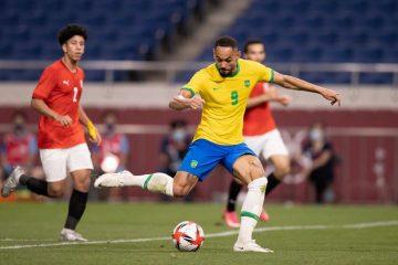 Com gol do paraibano Matheus Cunha, Brasil vence o Egito e se classifica à semi das Olimpíadas