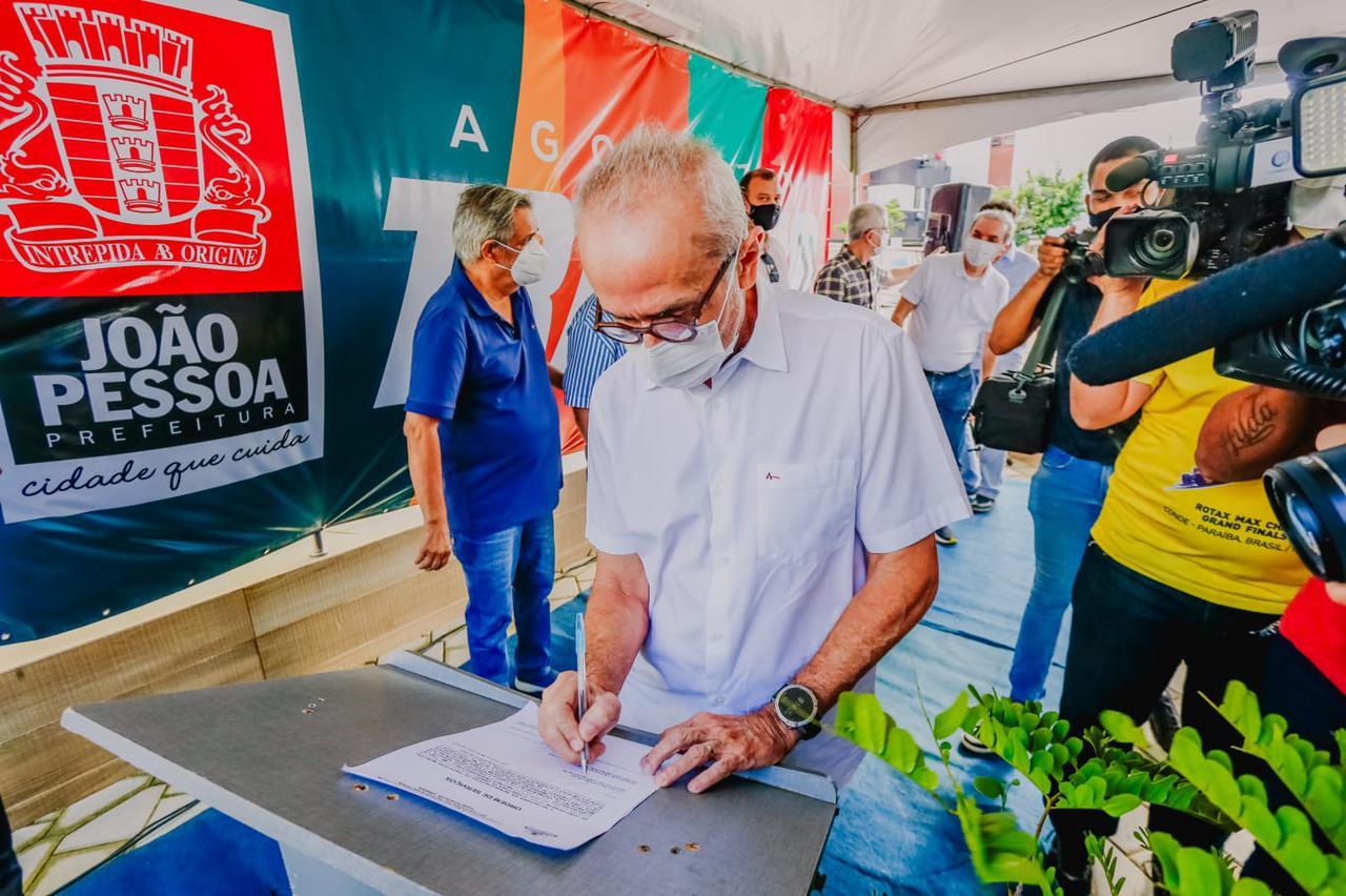 cicero 1 - Cícero autoriza obras no Jardim Oceania e garante calçamento de 100% das ruas do bairro
