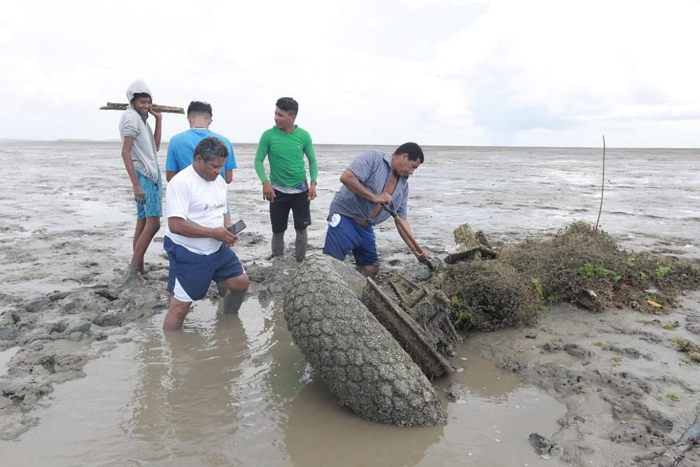 destrocos 1 - Destroços de avião americano da Segunda Guerra Mundial são encontrados em litoral brasileiro