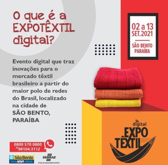 expotextil - Prefeitura de São Bento lança 1ª Expo Têxtil Digital 2021 e convida expositores para participarem da Feira de Negócios