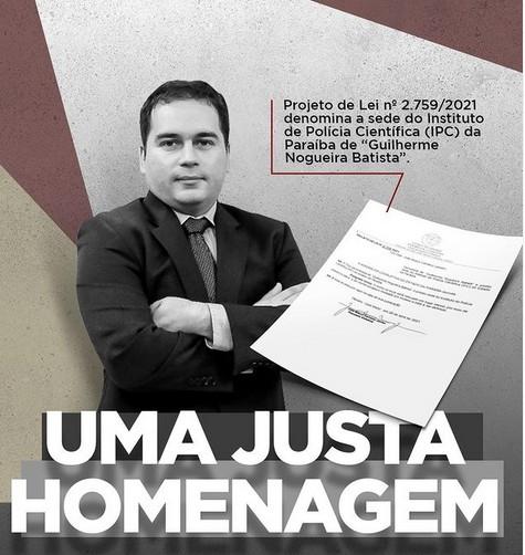 hom - Deputado Bosco Carneiro apresenta PL para que nome de Guilherme Nogueira seja dado a sede do IPC