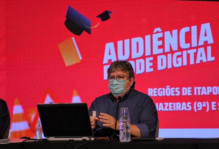 joao azevedo orcamento democratico - João Azevêdo dá início ao Orçamento Democrático 2021 e garante R$ 10 milhões em investimentos nas regiões de Itaporanga, Sousa e Cajazeiras